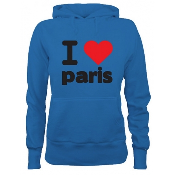 I Love Paris  - Custom Printed Hoodie