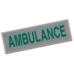 Large Ambulance Heat Applied Reflective Badge