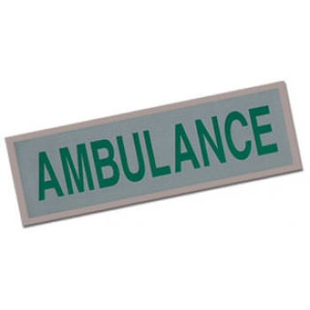 Small Ambulance Heat Applied Reflective Badge