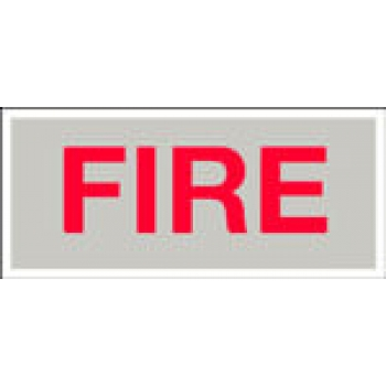 Small Fire Heat Applied Reflective Badge
