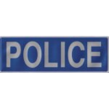 Large Police Heat Applied Reflective Badge