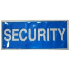 Small Security Heat Applied Reflective Badge